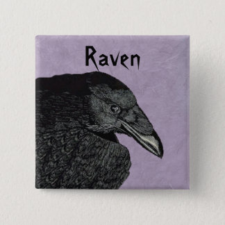 Chapa Cuadrada La cabeza negra del cuervo lleva a hombros el