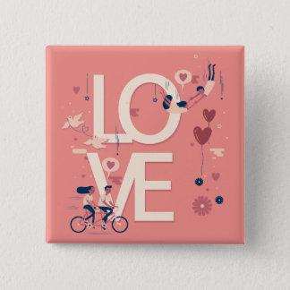 Chapa Cuadrada La tarjeta del día de San Valentín simple con todo