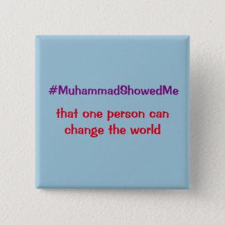 Chapa Cuadrada La tormenta Mohamed del gorjeo de Hashtag me