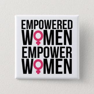 Chapa Cuadrada Las mujeres autorizadas autorizan a mujeres