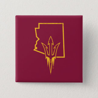 Chapa Cuadrada Logotipo clásico del estado de ASU el |