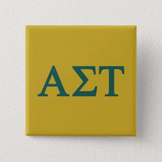 Chapa Cuadrada Logotipo grande alfa del Tau Lil de la sigma