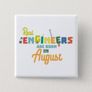Chapa Cuadrada Los ingenieros son en agosto Z479b nacidos