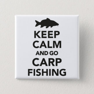 """Chapa Cuadrada """"Mantenga tranquilo y vaya insignia de la pesca de"""