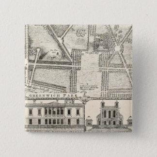Chapa Cuadrada Mapa del parque de Greenwich