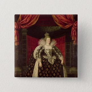 Chapa Cuadrada Marie de Medici en los trajes de la coronación,