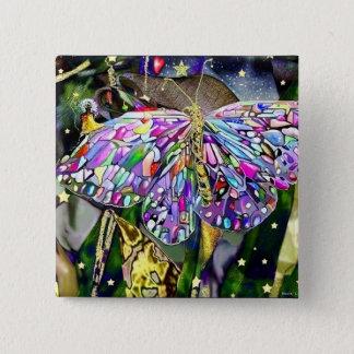 Chapa Cuadrada Mariposa del Año Nuevo, imán