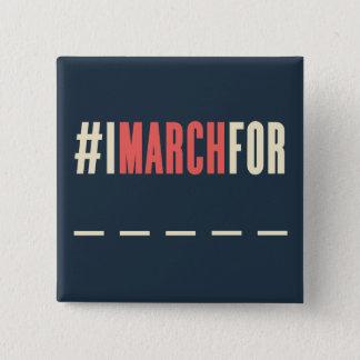 Chapa Cuadrada Marzo de las mujeres en América