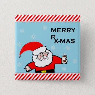 Chapa Cuadrada navidad del farmacéutico