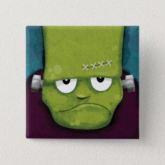 Chapa Cuadrada Novedad gruñona de Frankenstein el | Halloween