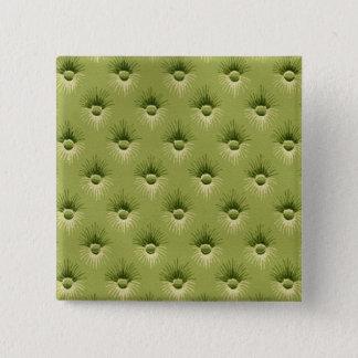 Chapa Cuadrada Papel pintado verde oliva acolchado del vintage