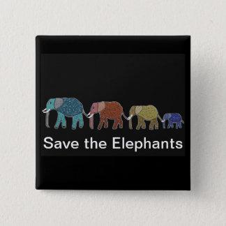 Chapa Cuadrada Paseo de neón del elefante africano