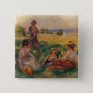 Chapa Cuadrada Pedro un fiesta de Renoir el | en el país en