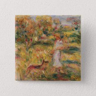 Chapa Cuadrada Pedro un paisaje de Renoir el | con la esposa del