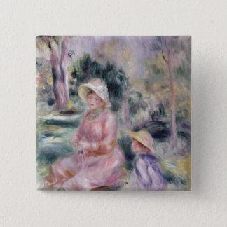Chapa Cuadrada Pedro una señora Renoir y su hijo Pedro de Renoir