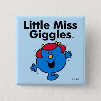 Chapa Cuadrada Pequeña pequeña Srta. Giggles Likes To Laugh de la