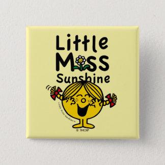 Chapa Cuadrada Pequeña pequeña Srta. Sunshine Laughs de la Srta.