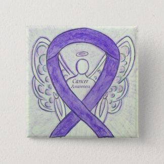 Chapa Cuadrada Pernos violetas del personalizado del ángel de la