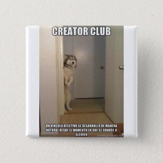 Chapa Cuadrada Perro afectivo