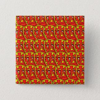 Chapa Cuadrada Piel roja