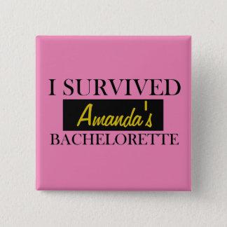 Chapa Cuadrada Pin de encargo del rosa de Bachelorette