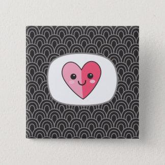Chapa Cuadrada Pin del corazón del sushi