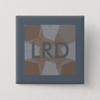 Chapa Cuadrada Pin gris del arte de Digitaces del monograma