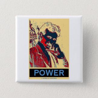 Chapa Cuadrada Poder de Nikola Tesla (Obama-Como el poster)