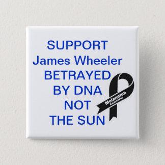 Chapa Cuadrada Policía motorizado de James de la ayuda
