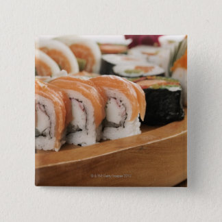 Chapa Cuadrada Primer del sushi en un disco
