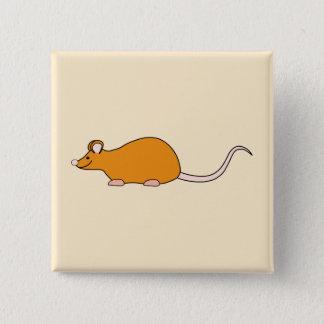 Chapa Cuadrada Ratón del mascota. Color de canela