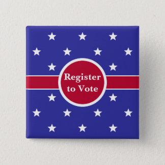 Chapa Cuadrada Registro del rojo, blanco y azul para votar el