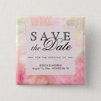 Chapa Cuadrada Reserva soñadora romántica del boda del flor la