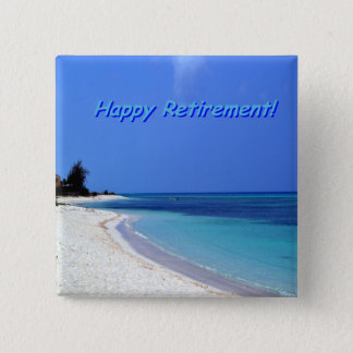Chapa Cuadrada Retiro feliz - cielo azul, océano azul