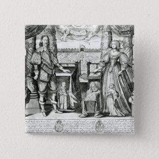 Chapa Cuadrada Retrato de la familia de Charles I