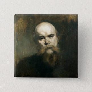Chapa Cuadrada Retrato de Paul Verlaine 1890