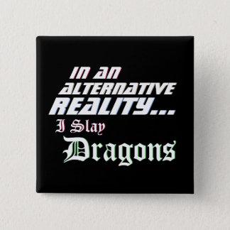 Chapa Cuadrada RPG alternativo de los dragones de la matanza de