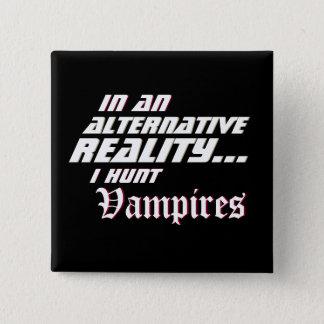Chapa Cuadrada RPG alternativo del cazador del vampiro de la