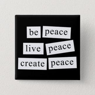Chapa Cuadrada Sea paz