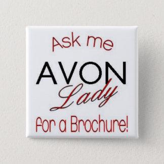Chapa Cuadrada Señora Pin de Avon
