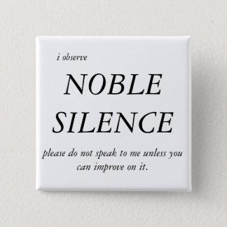 Chapa Cuadrada Silencio noble