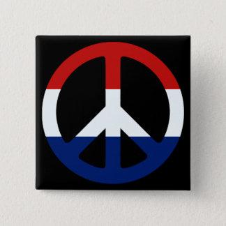 Chapa Cuadrada Símbolo de paz patriótico