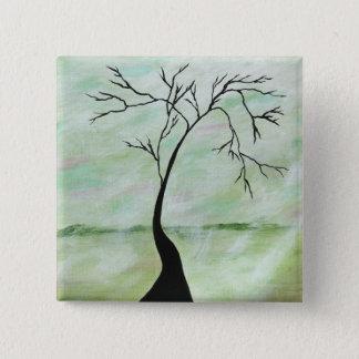 Chapa Cuadrada Solamente esperé el árbol torcido del arte