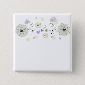 Chapa Cuadrada Sweet Flowers