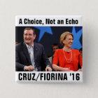 Chapa Cuadrada Ted Cruz Carly Fiorina 2016