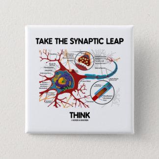 Chapa Cuadrada Tome el salto sináptico piensan (neurona/la