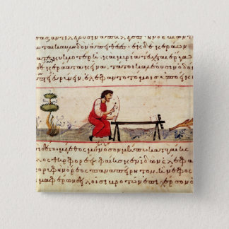 Chapa Cuadrada Trabajo de marfil tradicional de ms Grec 479