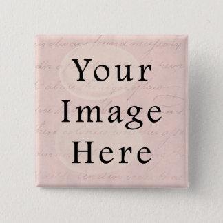 Chapa Cuadrada Vintage pálido - papel de pergamino color de rosa
