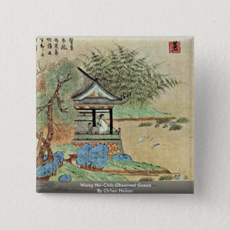 Chapa Cuadrada Wang Sus-Chih gansos observados de Ch'Ien Hsüan