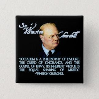 Chapa Cuadrada Winston Churchill en socialismo